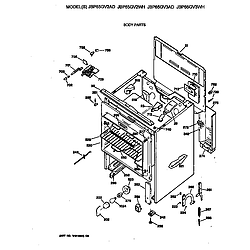 JBP65GV2AD Electric Range Body Parts diagram