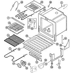 JDS9860AAB Slide-In Dual-Fuel Downdraft Range Oven/base Parts diagram