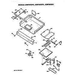 JGBP35GEP4WG Gas Range Burner assembly Parts diagram