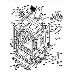 JGBP35WEW1WW Gas Range Body Parts diagram
