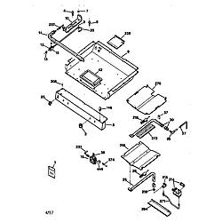 JGBP35WEW1WW Gas Range Gas burner Parts diagram