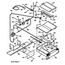 JGSP31WETWW Gas Range Oven burner Parts diagram