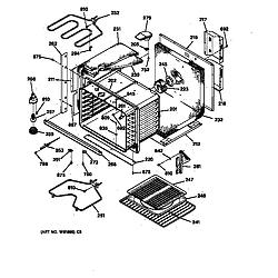 JTP14WT1WW Electric Oven Body Parts diagram