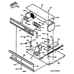 JTP14WT1WW Electric Oven Control panel Parts diagram