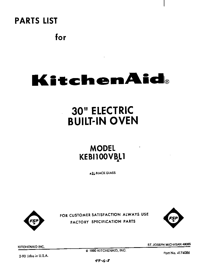 kitchenaid kebi100vbl electric built in oven timer stove clocks Whirlpool Oven Wiring Diagram