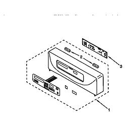 KEBI276DWH6 Oven Control panel Parts diagram