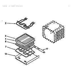 KEBI276DWH6 Oven Internal oven Parts diagram