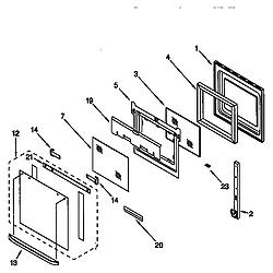 KEBI276DWH6 Oven Oven door Parts diagram