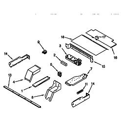 KEBI276DWH6 Oven Top venting Parts diagram