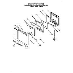 KEBS277DWH1 Built-In Electric Oven Oven door Parts diagram