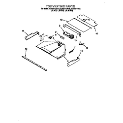 KEBS277DWH1 Built-In Electric Oven Top venting Parts diagram