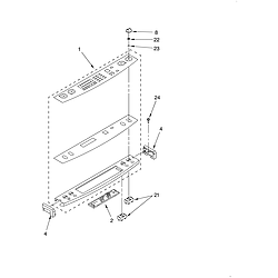 KERC607HBS4 Electric Freestanding Range Control panel Parts diagram