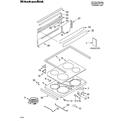 KERC607HBS4 Electric Freestanding Range Cooktop/literature Parts diagram