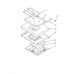 KERC607HBS4 Electric Freestanding Range Hidden bake/optional Parts diagram