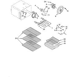 KERC607HBS4 Electric Freestanding Range Oven Parts diagram