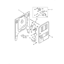 KERC607HBS4 Electric Freestanding Range Rear chassis Parts diagram