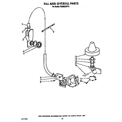 KUDM220T0 Dishwasher Fill and overfill Parts diagram