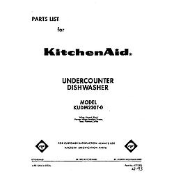 KUDM220T0 Dishwasher Front cover Parts diagram