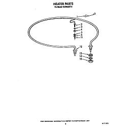 KUDM220T0 Dishwasher Heater Parts diagram