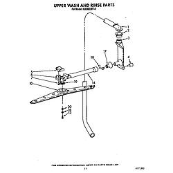 KUDM220T0 Dishwasher Upper wash and rinse Parts diagram