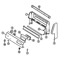 L3878VYV Range Control panel Parts diagram