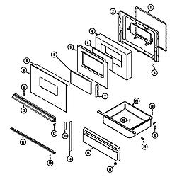 L3878VYV Range Door/drawer Parts diagram