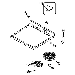 L3878VYV Range Top assembly Parts diagram