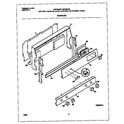 MGF354CGSC Gas Range Backguard Parts diagram