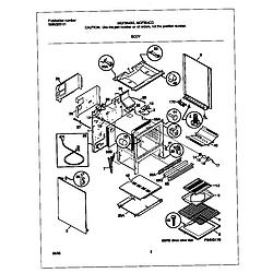 MGF354CGSC Gas Range Body Parts diagram