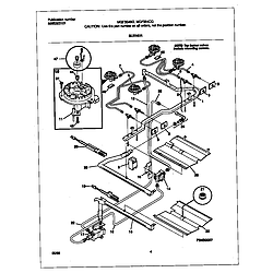 MGF354CGSC Gas Range Burner Parts diagram