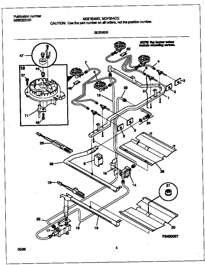 gibson mgf354cgsc gas range timer