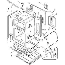 "MGR6875ADB Gemini 30"" Double Oven Freestanding Gas Range Body Parts diagram"