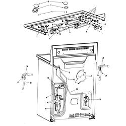 "MGR6875ADB Gemini 30"" Double Oven Freestanding Gas Range Gas controls Parts diagram"