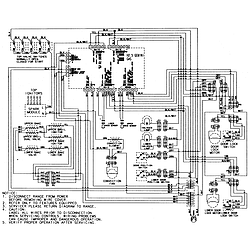 """MGR6875ADB Gemini 30"""" Double Oven Freestanding Gas Range Wiring information (at series 13 & 14) Parts diagram"""
