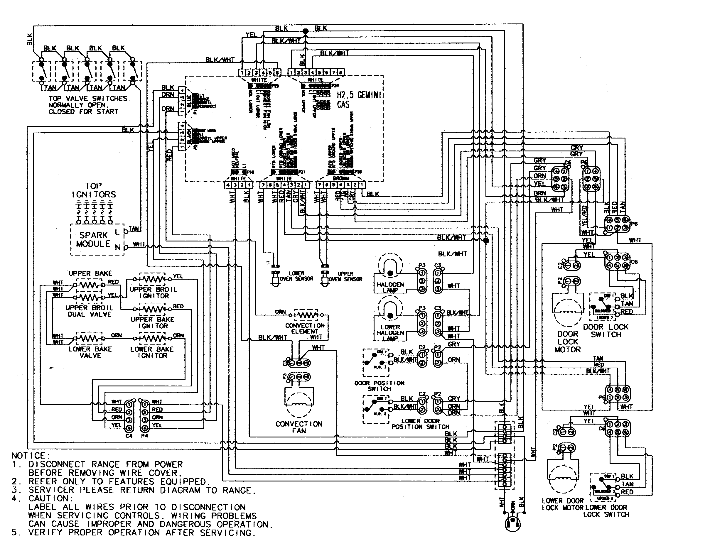 Oven Igniter Wiring Diagram Archive Of Automotive Pro Comp Harness Maytag Mgr6875adb Gemini 30 Double Freestanding Gas Range Rh Appliancetimers Ca