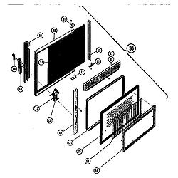 MTR217 Combination Oven Microwave food cavity door Parts diagram