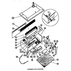 MTR217 Combination Oven Microwave main structure Parts diagram