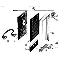 MTR217 Combination Oven Microwave power compartment door Parts diagram
