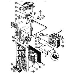 MTR217 Combination Oven Microwave power section Parts diagram