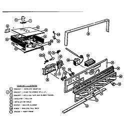 MTR217 Combination Oven Self cleaning oven control section Parts diagram