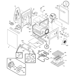 PGLEF385CB1 Electric Range Body Parts diagram