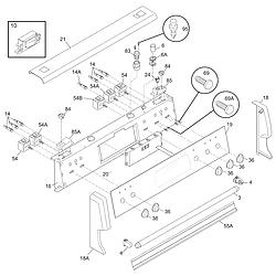 PGLEF385CS3 Electric Range Backguard Parts diagram