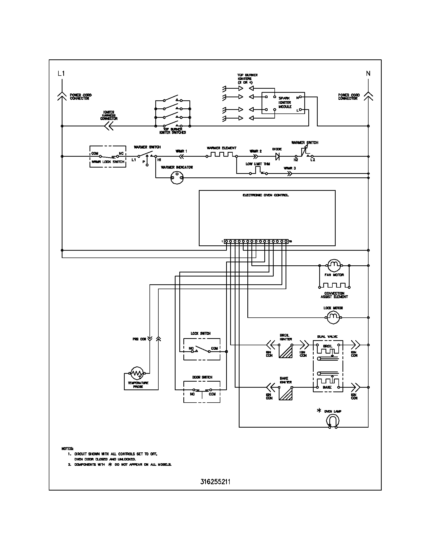 frigidaire plgf389ccc gas range timer stove clocks and appliance rh appliancetimers ca Frigidaire Refrigerator Schematics Wiring Diagram for Frigidaire Fridge