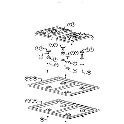 RDDS30 Range Gas maintop Parts diagram