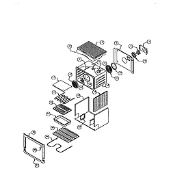 RDDS30 Range Main oven liner and module Parts diagram