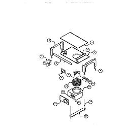 RDDS30VRS Range Base assembly Parts diagram
