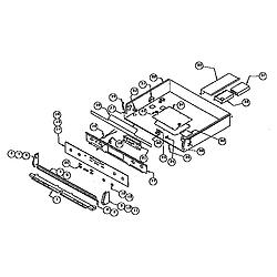 RDDS30VRS Range Burner box assembly Parts diagram