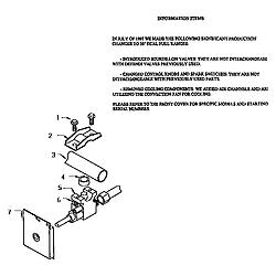 RDDS30VRS Range Gas control valve detail Parts diagram