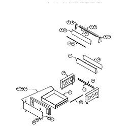 RDDS30VRS Range Storage drawer and base Parts diagram