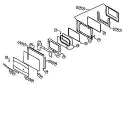 "RDF30 30"" Dual-fuel Range THERMADOR 30 diagram"